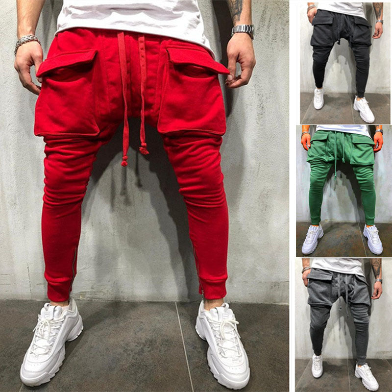 New Style Matched Color Pockets Men s Hip Hop Jogger Pants