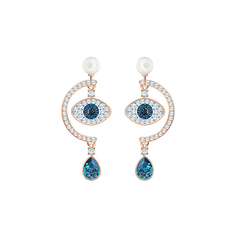 Blue Evil eye Earings Round