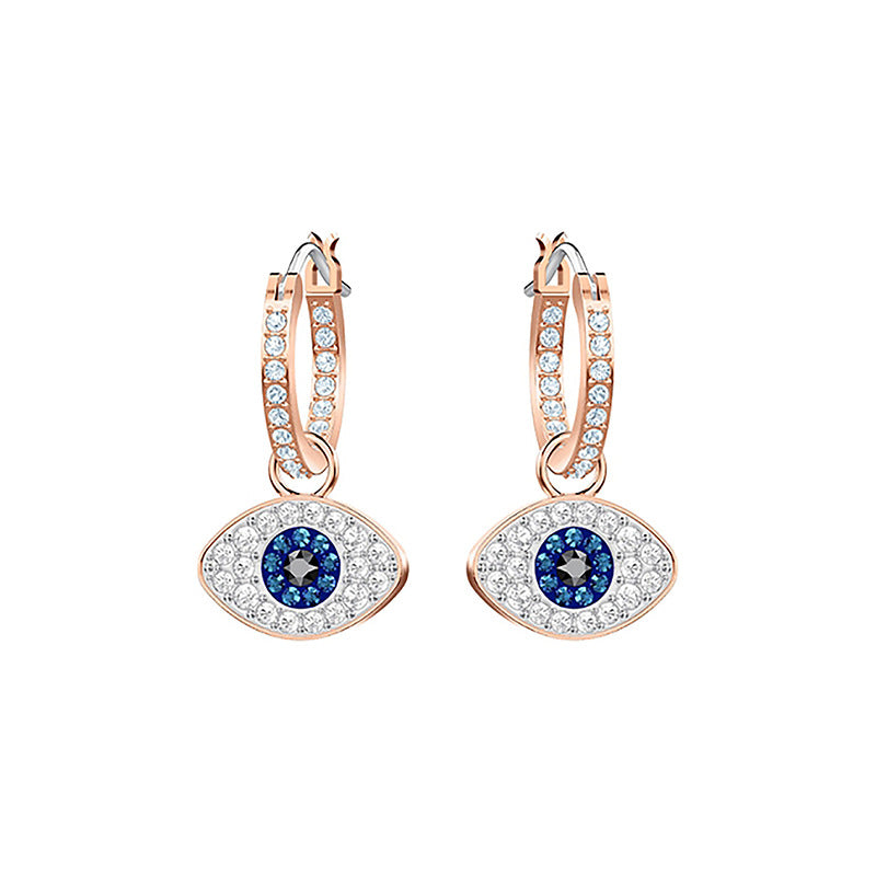 Blue Evil eye Earings Shaped