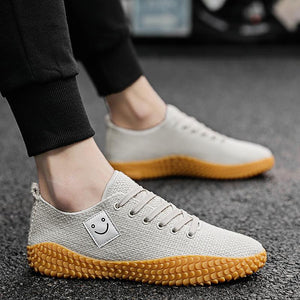 men Smile printed casual shoes