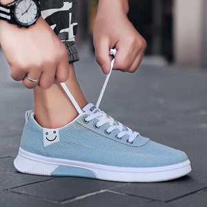 Men Classic smile solid color canvas shoes