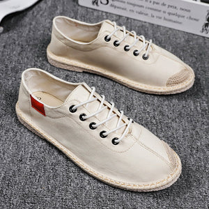 Solid Color Linen men's shoes