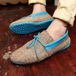 Men's casual shoes British fashion handmade peas shoes