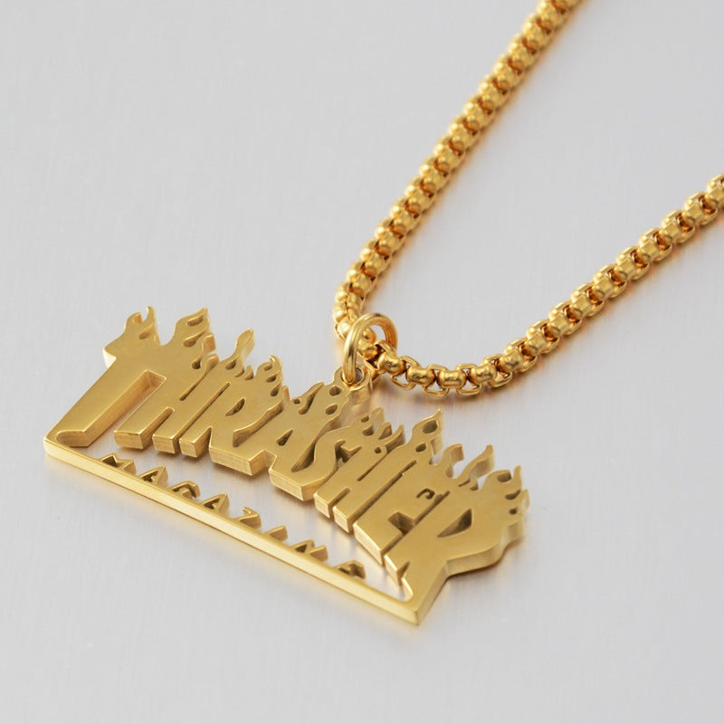 Unisex Thrasher Logo Necklace