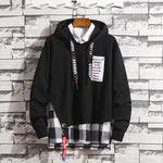 Men's Autumn Patchwork Long Sleeved Hooded hoodies