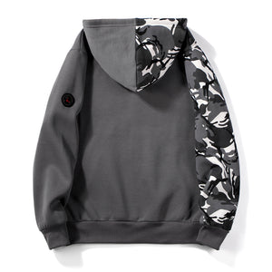Men Camouflage hit color street sports sweater