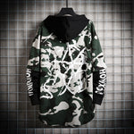 Men new fake two men's camouflage sweater