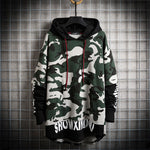 2019 autumn and winter new fake two men's camouflage sweater