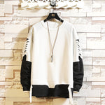Round neck loose long sleeve men's sweater