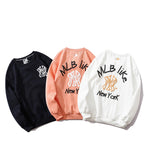 Men's Casual Fashion Loose Hoodies NY printed