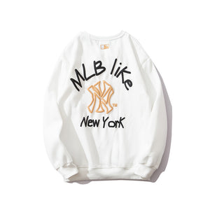 MLB Hoodies Men's Casual Fashion Loose Hoodies NY printed