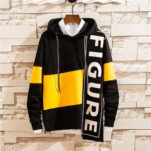 Men Figure Printed  Hooded Sweater