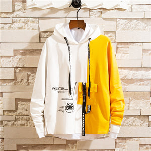 Men Colorblocked hooded  sweater