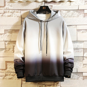 Men's Korean Style hooded gradient sweater
