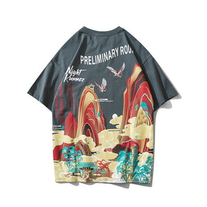 Unisex printed short sleeve T-shirt Night Runners Printed
