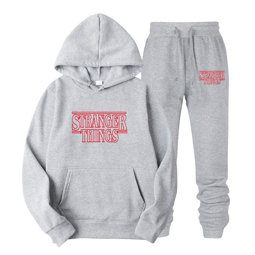 Stranger Things Set Men's Hoodies Hip and Pants