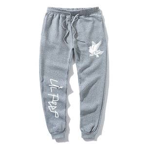 Love lil.peep Pant Men's  Cry baby Pants Multi Pocket HipHop white Pants