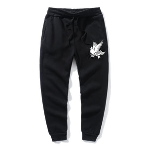 Love lil.peep Pant Men's  Pants Multi Pocket HipHop white Pants