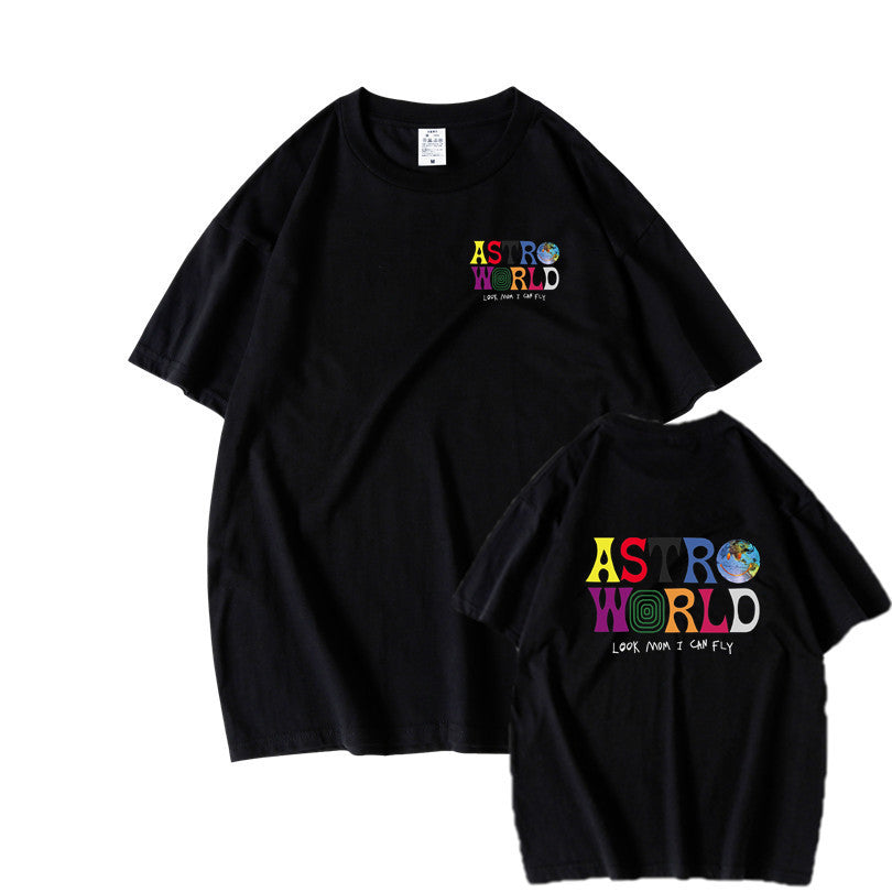Travis Scotts ASTROWORLD Harajuku T-Shirts WISH YOU WERE HERE Letter Print Tees Tops