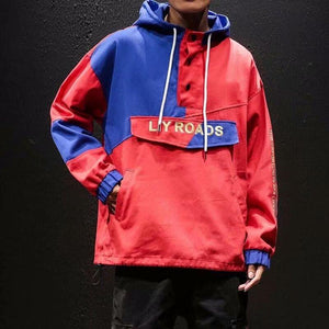 Retro Vintage Windbreaker Pullover Jacket