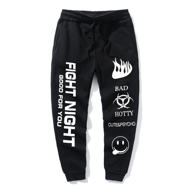 Fight Night Pants Men Fight Night Printed Joggers
