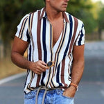 White Shirt Men's Fashion Striped Shirt