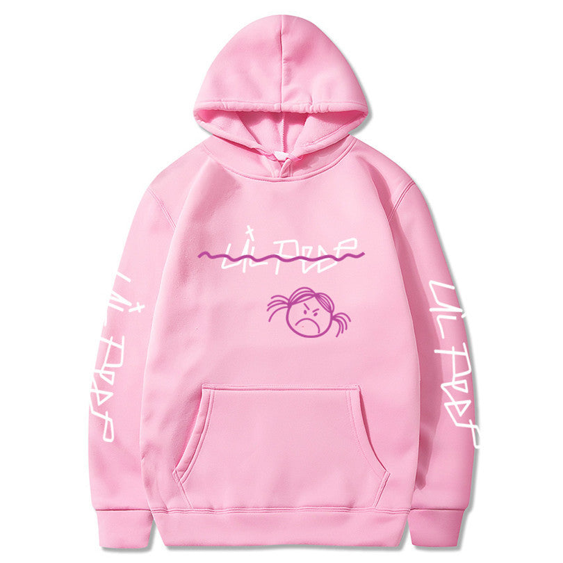 Lil Peep Hoodies Love lil.peep Happy Smiling Face Print men Women Pullover Hoodies