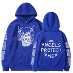 Lil Peep Hoodies Love lil.peep Angels Protect Me Print men Women Pullover Hoodies