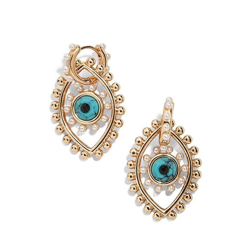 Blue Evil eye Earings