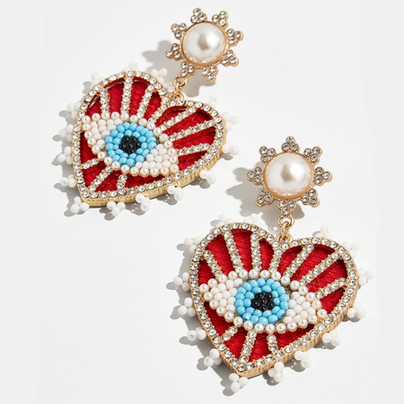 Red Evil eye Earings