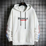 Believe Hoodies Men Stitching Hip Hop Hoody Sweater