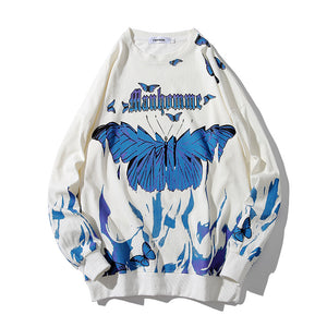 Butterfly Hoodies Men's Hiphop Loose Sweater