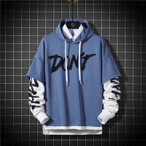Don't Letters Printed Hoodies Men Fashion Hip hop hoodies