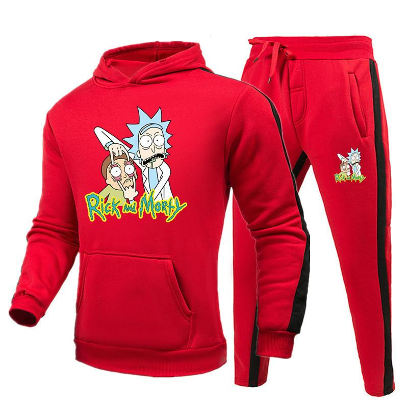 Rick And Morty Tracksuit Men Long Sleeve Hoodie And Sweatpant