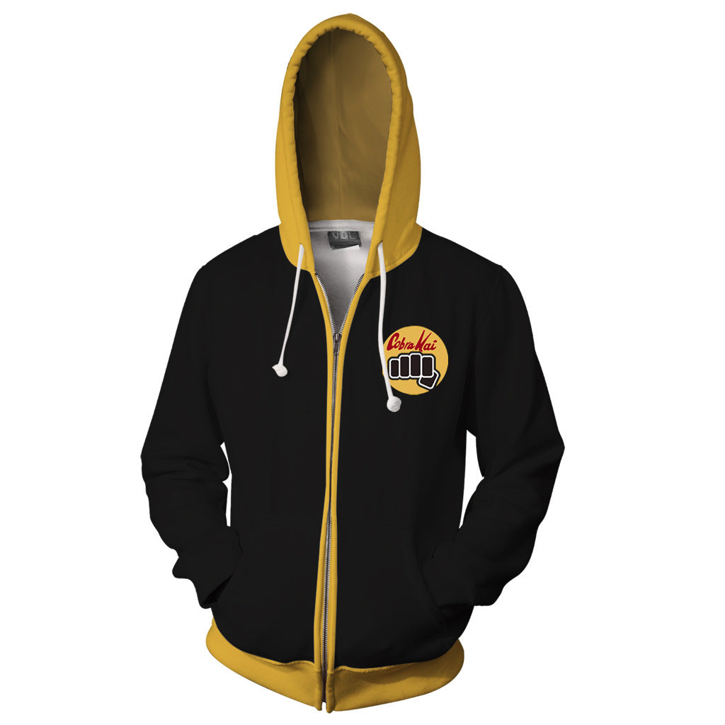 Black Cobra Kai Zipper Jacket
