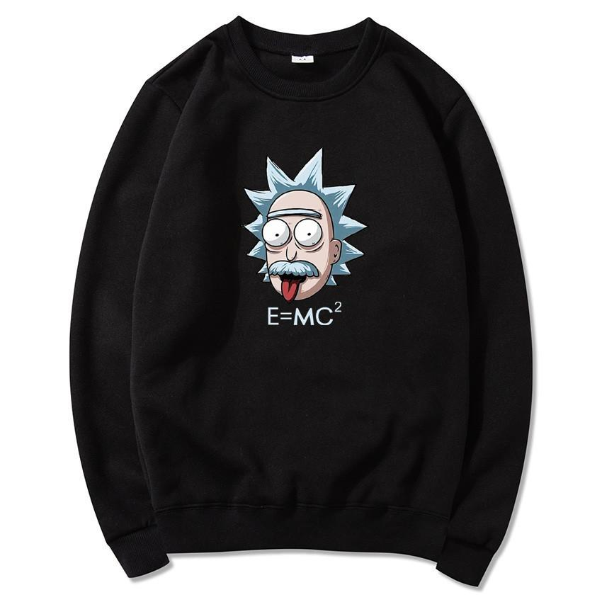 Rick And Morty Hoodies Men Round Neck Long Sleeve Hoodies