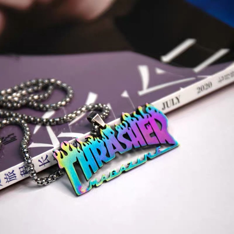 Thrasher Logo Necklace