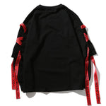 Men Hip Hop Punk Rock Long Sleeve Streetwear - thistylish