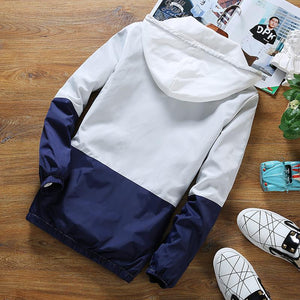 Colorblock men's casual jacket - freakichic