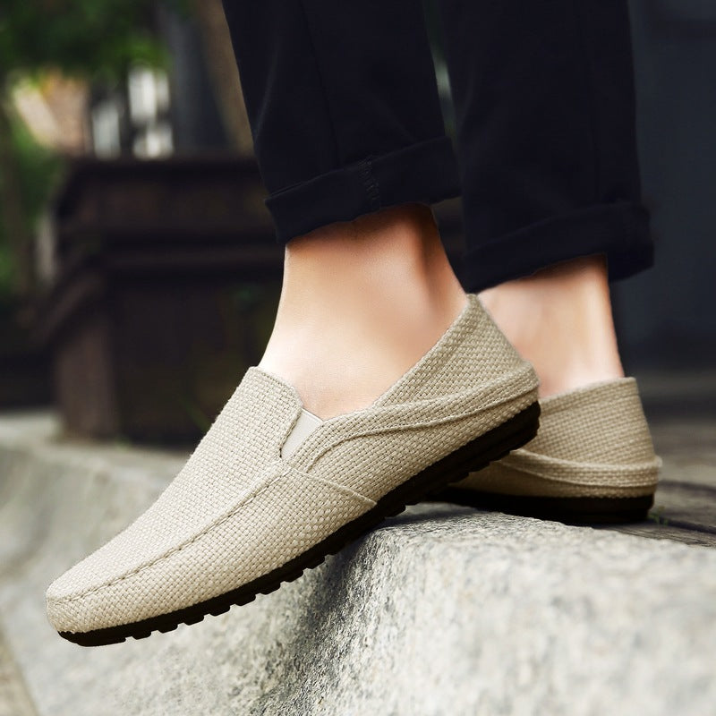 Men spring new men's linen shoes