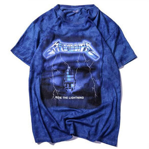 New 2019 men's trend European and American cotton 3D tie-dye handmade T-shirt