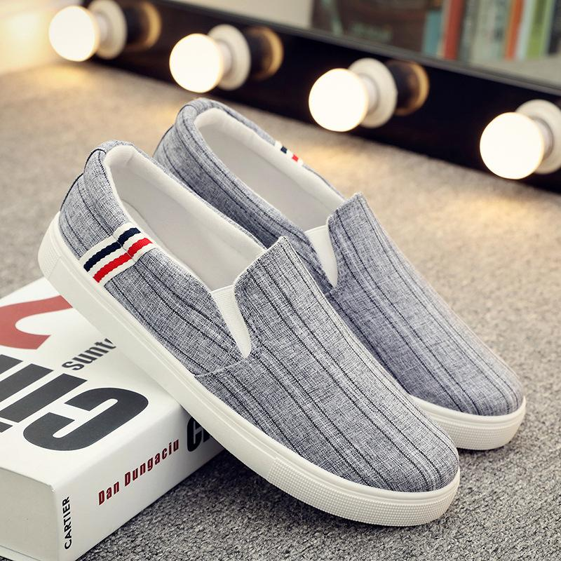 Summer men's shoes low canvas shoes men's casual shoes