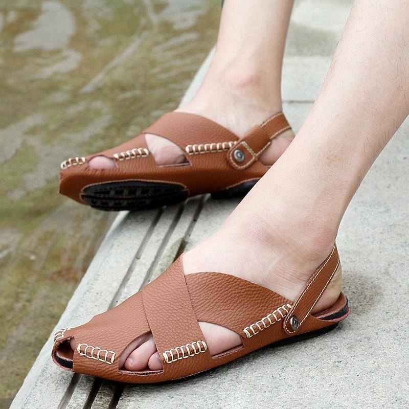 Mens Genuine Leather Sandals