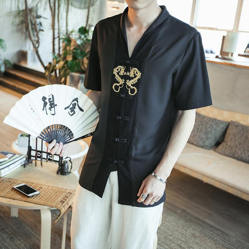 Chinese traditional men's clothing tang suit
