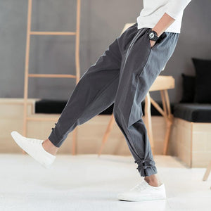 Men Chinese wind Casual pants