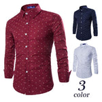 Men's Casual Anchor Print Long Sleeve Shirt