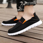 Summer men's shoes breathable low cut canvas shoes soft bottom peas shoes