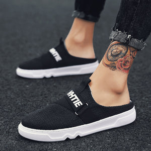 Men Causal Shoes spring Wide Slip On Canvas Sneakers