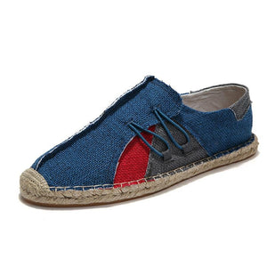 Men Patchwork Flax shoes