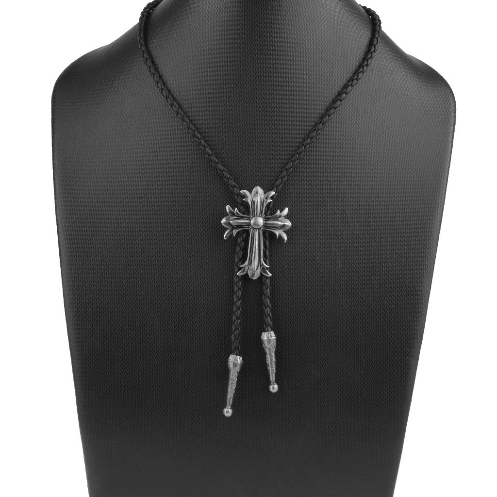 Cross alloy necklace